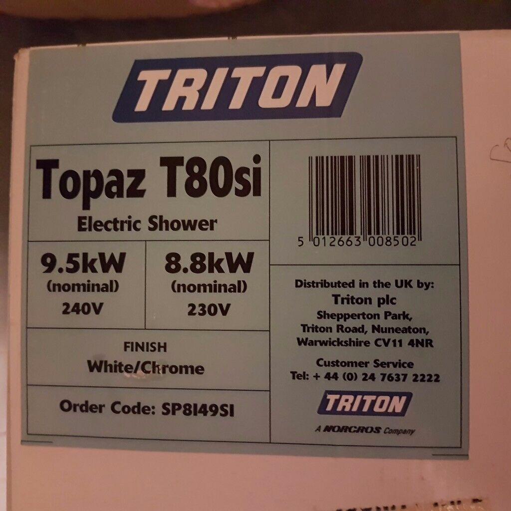 Triton electric power shower still boxed 9.5 watt, cost £120.00 will accept £40