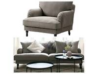 Ikea Stocksund armchair and 3 seater sofa
