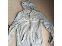 Abercrombie hoodie, Large Grey