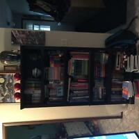 Tall black bookcase 35 1/4 x 69 1/2 for sale