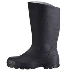 Steel toe Wellingtons
