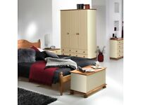SALE FURNITURE!! Cream and Pine Traditional Bedroom Sets, Wardrobes, Chest of Drawer, Bedside