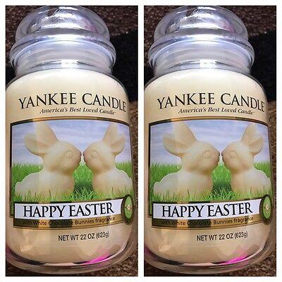 Happy Easter   Set Of 2  New Yankee Candle Large Jars 22Oz