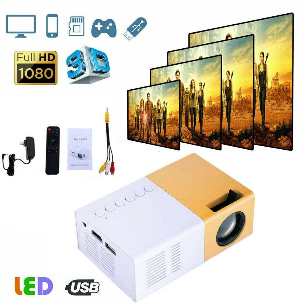 1080p full hd led portable mini projector