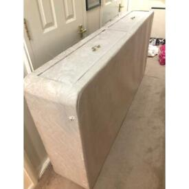 Bed with headboard and mattress