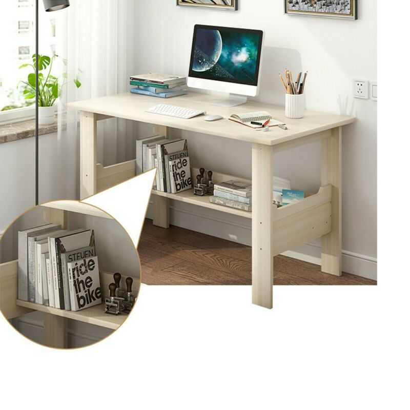 """US 39/"""" Home Solid Wood Small Desk Bedroom Study Table Office Desk Workstation"""