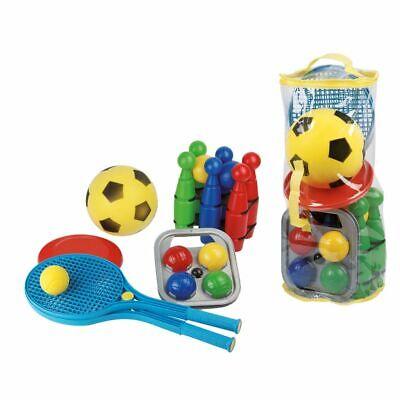 Van der Meulen 0713002 Outdoor Spiel Set 5in1 Fußball Frisbee Softball