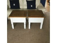 2 VERY SOLID WOOD OCCASIONAL / LAMP TABLES