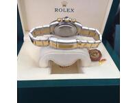 White's Watches - New Rolex Daytona, 2-Tone Bracelet, Gold Face With Gold Bezel