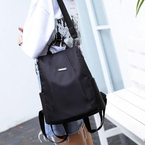 Women Antitheft Oxford School Backpack Travel Waterproof Satchel Shoulder Bag
