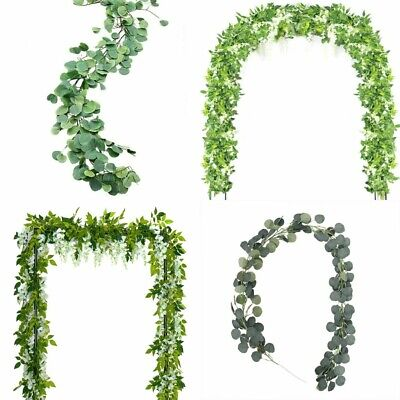 Wholesale Artificial Plants Flower Greenery Garland Vine Faux Silk Wreath Decor ()