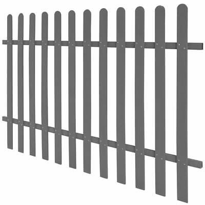 vidaXL WPC Picket Fence 200x120 cm Grey