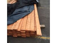 Rough sawn treated timber 4x1 22mmx100mm 3m(10ft)