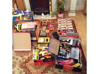 Model buses etc joblot of mixed toys railway items far to much to list