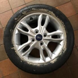 Ford Fiesta wheel with tyre