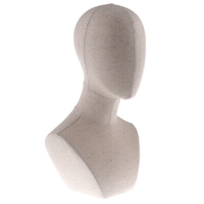 Male Mannequin Manikin Head Jewelry Wigs Glasses Hat Headphone Display Stand