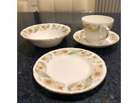 "Bone China Breakfast Set - ""Greensleeves"" by Duchess"