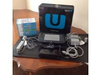 WII U PREMIUM PACK, WITH 15 BOXED WII U GAMES, 9 BOXED WII GAMES