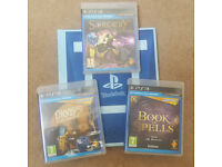 Wonderbook: Book of Spells from J.K. Rowling + Sorcery + Diggs Nightcrawler games for PS3