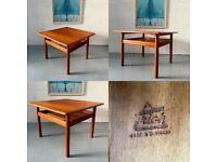 Vintage Danish Two Tier Teak Coffee Table by Trioh Mobler