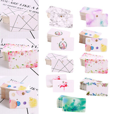 900pcs Jewelry Earring Ear Studs Hanging Display Holder Hang Cards 5.0x3.0cm