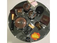 Xmas gift -bronzing bowl with brushes sponge over £25 of makeup