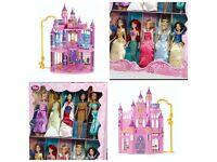 BN DISNEY PRINCESS ULITIMATE DREAM CASTLE & 10 Disney store princess doll box set RRP £380