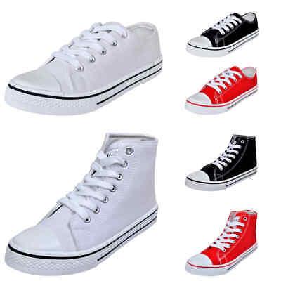 Damen High Low Top Sneaker Sportschuhe Turnschuhe Canvas Schnür Schuhe Gr. 36-41 online kaufen
