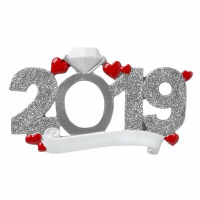 2019 Personalized Engagement, We're Engaged, Favor Christmas Ornament](Personalized Engagement Ornaments)