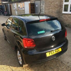 2011 Volkswagen POLO 1.2 MODA 5 DRS Black only at £3,999, A/C, half leather seats, very clean