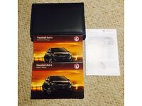 Vauxhall Astra 2011 handbook/manual/leather wallet