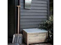 Contemporary Rustic Outdoor Storage Box