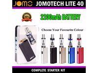 Jomotech e Cigarette Lite 40W 2200mAh Shisha Vapor MOD E Pen Sub Tank BRAND NEW SEALED