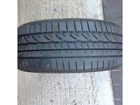 1 Dunlop Used Run flat Tyre 225/45 R17 Very Good cond