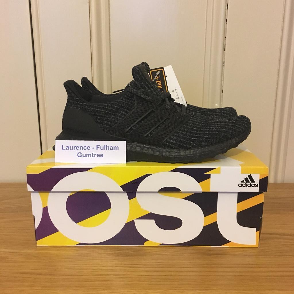 ed21db66bbc07 ... cheap adidas ultraboost 4.0 triple black size uk 9 ultra boost fea77  b9ead