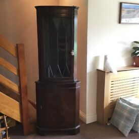 Mahogany Corner Unit with internal light