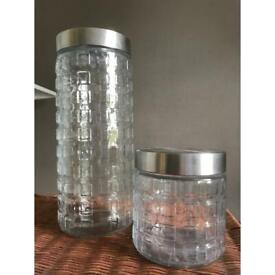 Glass jars with stainless steel lids