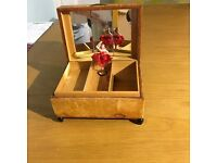 Antique Musical jewlerry box with Fairy /ballerina/dancer