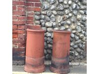 Reclaimed Pair of Chimney Pots