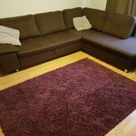 Super soft thick shaggy rug purple