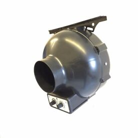 """Hydroponic 4"""" 100mm Extractor fan with Thermostat Fan Speed Temperature Control"""