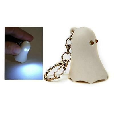 LED GHOST KEYCHAIN w LIGHT & SOUND Key Chain Ring Halloween NEW Toy Gift Animal