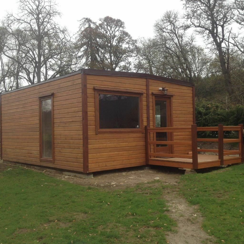 Mobile Transportable Timber Log Cabin Chalet Home In