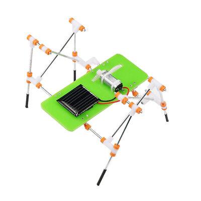 Solar Power Four Feet Robot DIY Scientific Kits Kid Educational Toy Playset