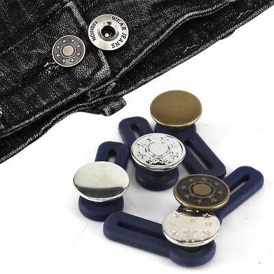 Adjustable 5X Jeans Retractable Button  Detachable Extended Button For Pants HOT