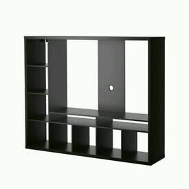 TV unit with shelves