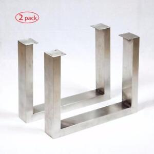 Stainless Steel & Raw Steel table & bench legs, U or X shape metal tubing, cast iron base, gas pipe table frame