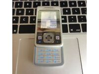 RARE RETRO SALE of Sony Ericsson T303 Slide Unlocked Mobile SmartPhone in Silver + Charger +Sim Card