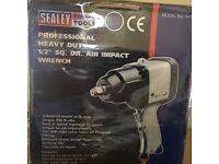 "SEALEY AIR IMPACT WRENCH 1/2""SQ DRIVE EXTRA HEAVY-DUTY SA5/S New"