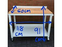 Heavy Duty Workbench on Castors - Great Mobile Surface for the Garage!